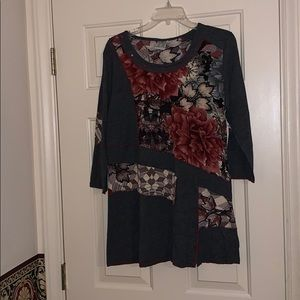 Parsley & Sage Tunic Top Size Large